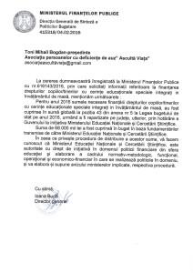 raspuns MFP - fonduri CES